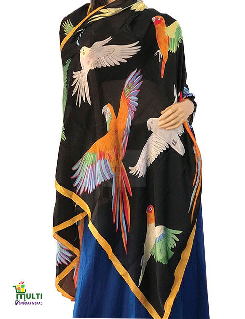 B 247-Printed Silk Stole