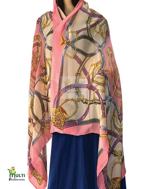 B 249 -Printed Silk Stole