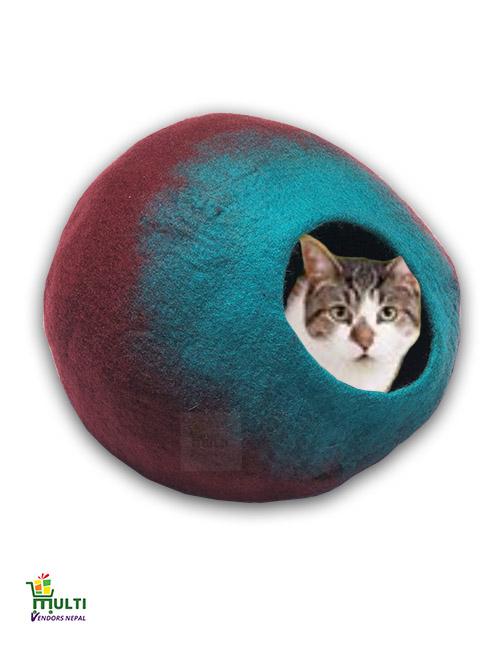 Aqua Green Splash Design Cat Cave