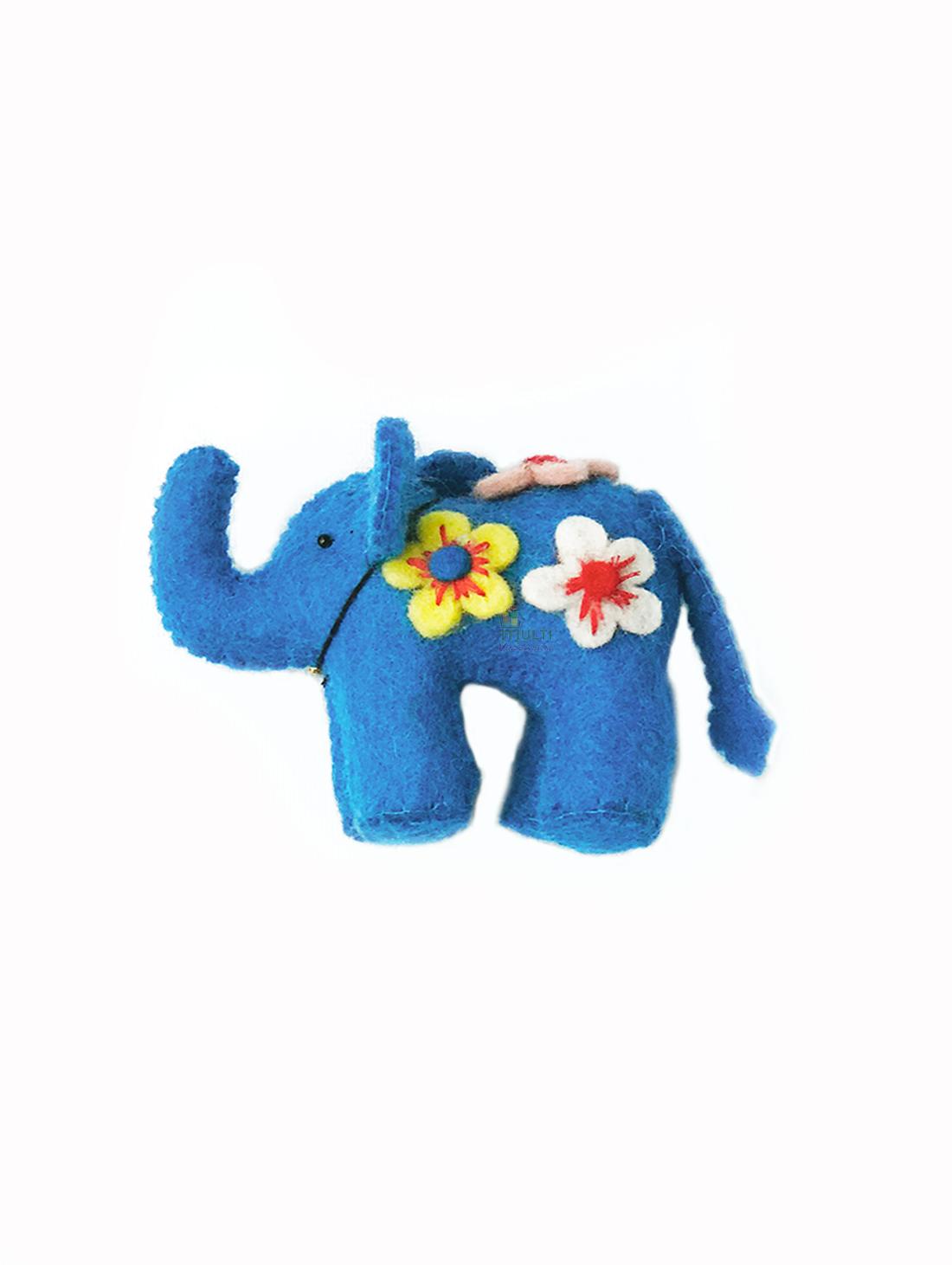 BLUE  ELEPHANT DECOR -SMALL- M.V.K.S.F-174A