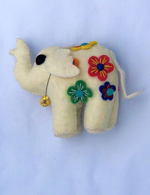 WHITE ELEPHANT HANGING-MEDIUM