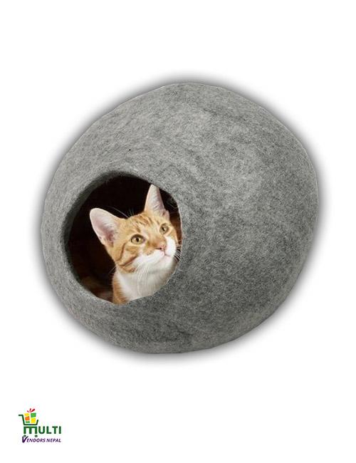 Grey Cat Bed Cave