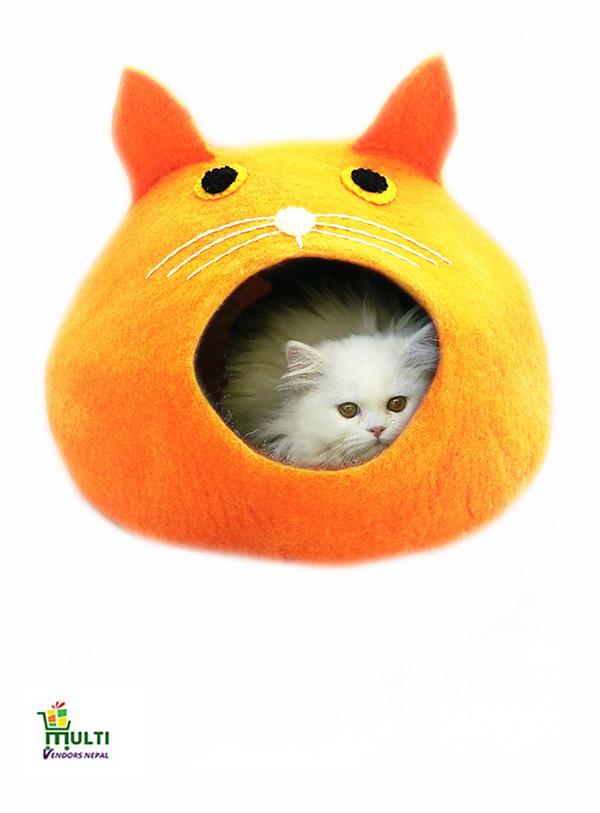 Orange Cave- Cat Face
