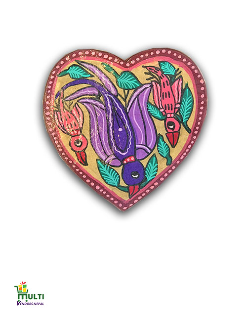 M.V.S-22-Mithila Art-Paper Gift Box Set-Heart Shape
