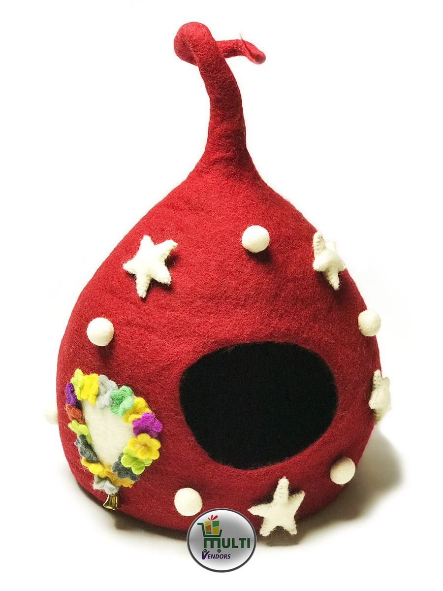 Star Cat Cave with Cat Name Holder