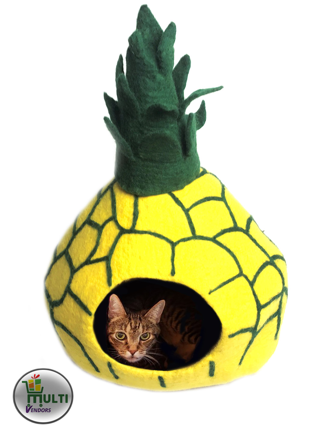 Pineapple Cat Cave Bed