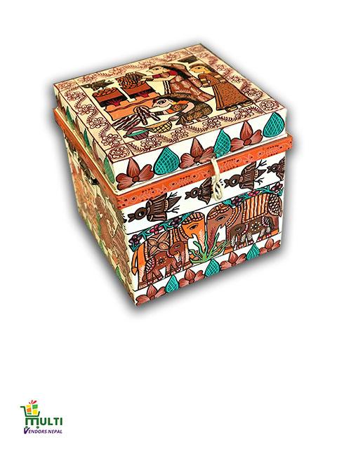 M.V.S-030-Mithila Art -Tin Made Decorative Box