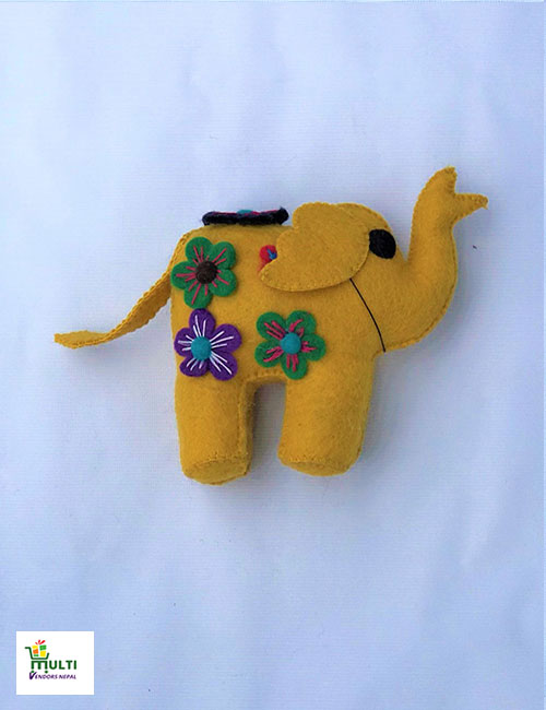 YELLOW ELEPHANT HANGING-MEDIUM
