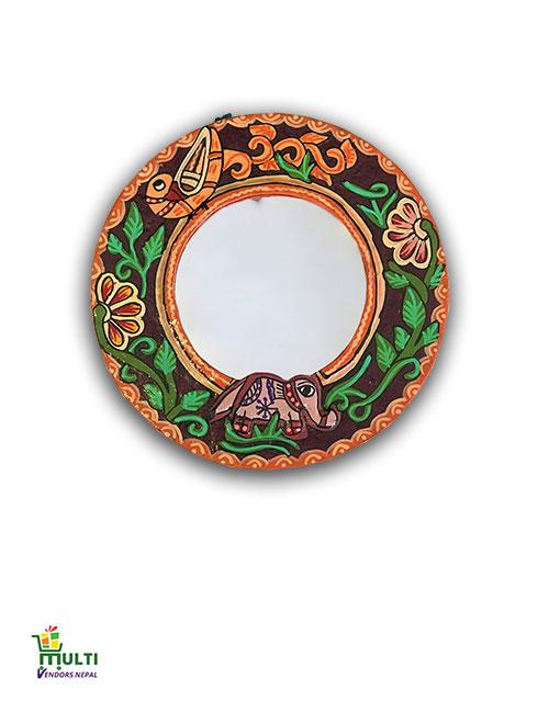 M.V.S-09-Mithila Art-Paper Mirror Hanging